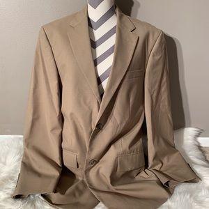 """Nautica Size 42L Blazer Tan 100% Wool Length 33"""""""